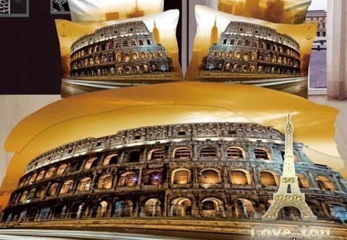 Постельное белье 3D Love You Колизей 2 - евро: хлопок, сатин