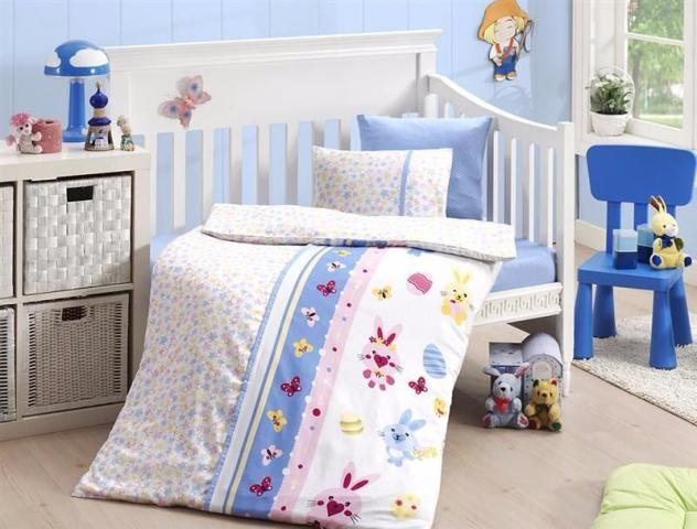 Постельное белье для новорожденных First choice Sweet Toys Mavi 100% бамбук