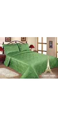 Покрывало с наволочками Love You 11-09 зеленый Евро макси 250 х 260 см