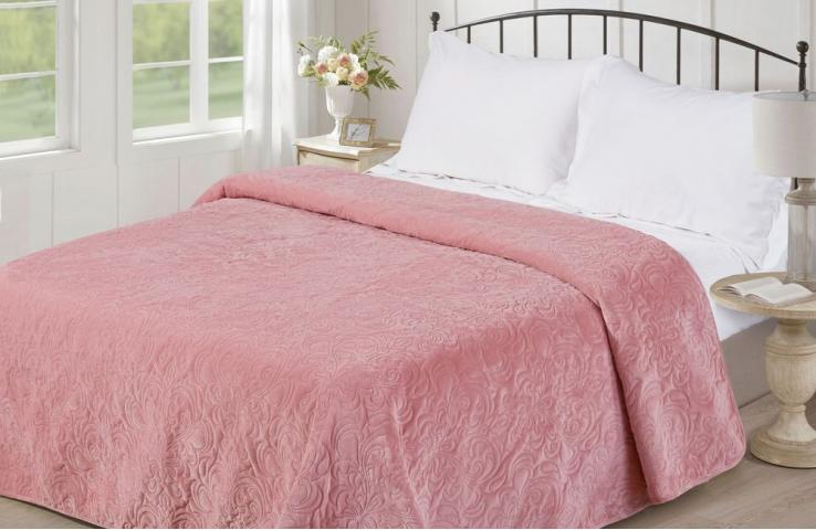 Покрывало Love You v18 розовый Полуторное 150 х 200 см