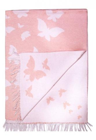 Плед Love You Бабочка розовый, Односпальный - 140 х 200 см