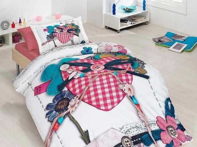 Подростковое постельное белье First Choice Lovable 100% хлопок