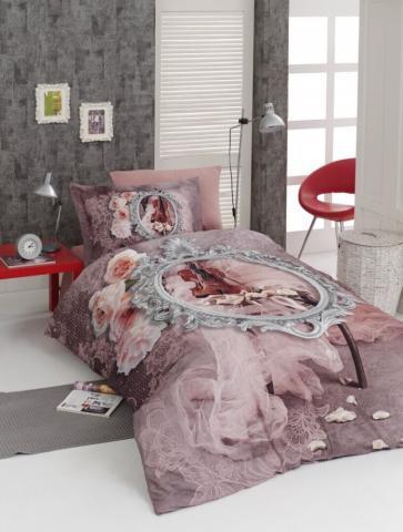 Подростковое постельное белье First Choice сатин 3D VIOLIN 100% хлопок