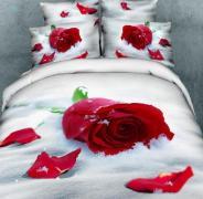 Постельное белье сатин семейное 3D Love You Верность 100% хлопок