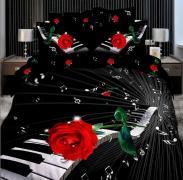 Постельное белье сатин семейное 3D Love You Мелодия 100% хлопок