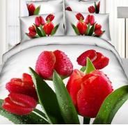 Постельное белье сатин семейное 3D Love You Блеск 100% хлопок