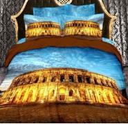 Постельное белье 3D Love You Колизей - семейное: хлопок, сатин